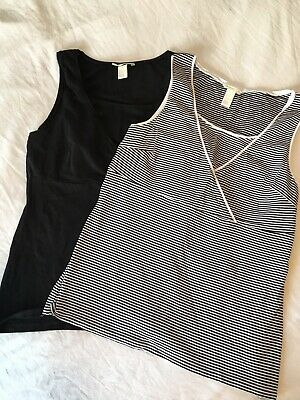 8598a101437 H&M MAMA Nursing Tops (lot Of 2) Black And Striped Tank Tops Size Large