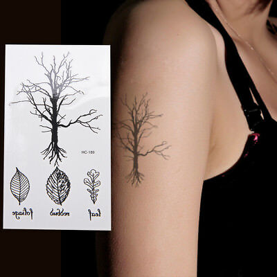 Leaf Tree Temporary Tattoos Body Arm Leg Waterproof Flash Tattoo Stickers