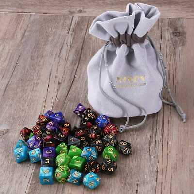 PBPBOX 42x Polyhedral Dice DND RPG Game Poker Card Dungeons Dragons Party VIC