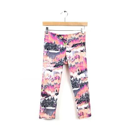 20924b7a6fa1f1 Onzie Legging XS Orange Pink Multi Color Sky Tree Printed Women's Yoga  Abstract