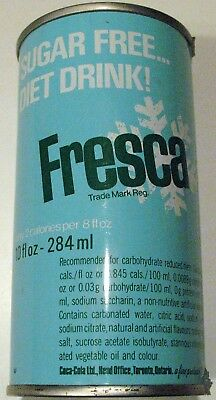 Vintage FRESCA 10 Ounce 284 Mls Steel Can Pull Tab  Coca Cola