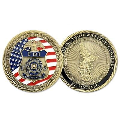 Special Agent ST Michael FBI Collectible Coin US Federal Bureau of Investigation