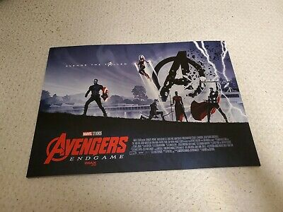 Avengers Endgame 2019 Movie Film Amc Theatres Imax Exclusive Poster Cardboard