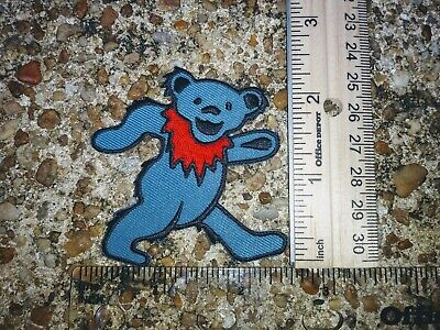 Grateful Dead Dancing Bear blue Embroidered Iron On Patch