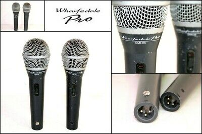 2 x WHARFEDALE PRO DM4.0S Dynamic Microphone Pro Mic Supercardioid
