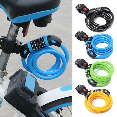ZOLI 5-Digit Bike Bicycle Coded Combination Lock Steel Spiral Cable B7R8