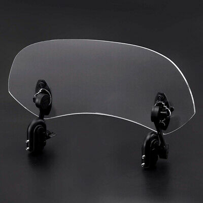 1X Universal Adjustable Clip-On Windshield Spoiler Wind Deflector For Motorcycle