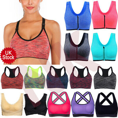 UK Ladies Ultimate High Impact Sports Bra Shock Absorber  Racerback Fitness Vest