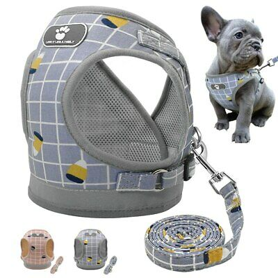 Reflective Puppy Dog Harness Breathable Mesh Chihuahua Vest Harness Leash Set