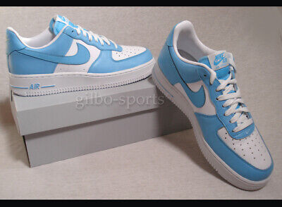 NIKE AIR FORCE 1 LO Blue Cale White Größe 42 hell blau weiß AQ4134 400