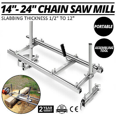 """Chainsaw Mill 24""""-48"""" Portable Chain Saw Mill Aluminum Steel Planking Lumber US"""