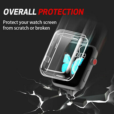 Ultra-Slim Transparent Full Cover TPU Case Cover For Apple Watch Series3 38/42mm