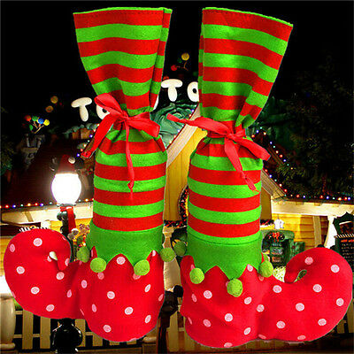 Xmas Elf Boot Shoes Stocking Christmas Tree Decoration Hanging  Candy Gift