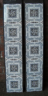 Aesthetic Movement Fireplace Tile Set (2 x 5 Tile Panels) ref 4
