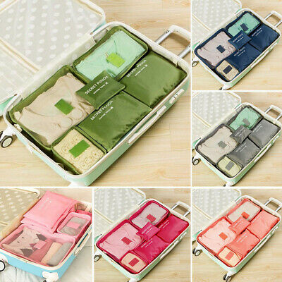 Foldable Waterproof Travel Clothes Organizer Pouch Storage Suitcase Luggage Bag