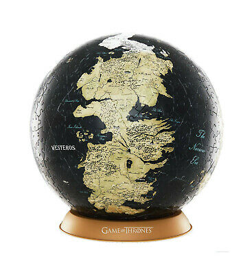Offiziell lizenziertes Game of Thrones 3D Globe Puzzle Unknown World Westeros