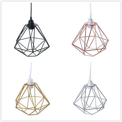 Light Cage Modern Industrial Style Ceiling Hanging Pendant Metal Shade Wire Lamp