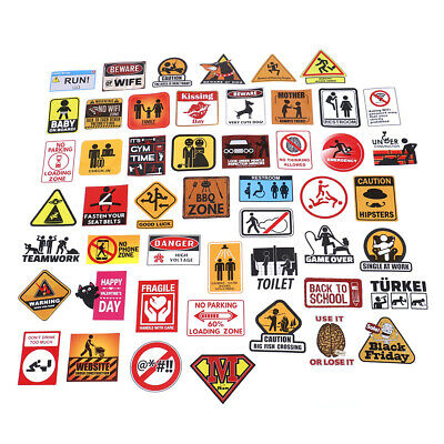 50 Pcs stickers apply to graffiti cars bike luggage fun stickers waterproof ^S