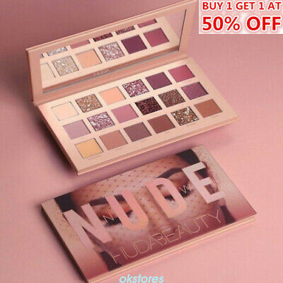 18 Colors Huda Beauty Nude Matte Eyeshadow Palette Eye Shadows Cosmetic Gift HOT