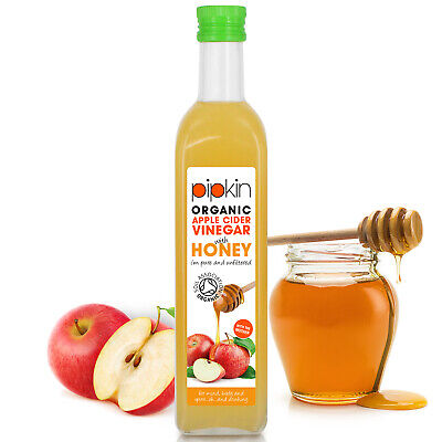 Pipkin Organic Apple Cider Vinegar with Raw Honey & Mother Pure Unfiltered 500ml