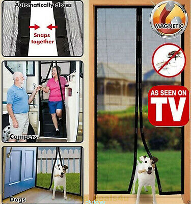 Magic Mesh Hands-Free Screen Door magnets AS SEEN ON TV KEEP BUGS OUT HOT