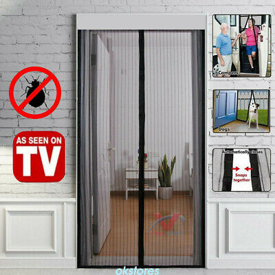 Hands Free Magic Mesh Screen Net Door with 26 magnets Anti Mosquito Bug Curtain.
