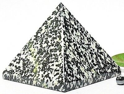 Pyramid-Tree Agate 588gm (3-3.5Inch) Natural Healing Reiki Crystal Pyramid Stone