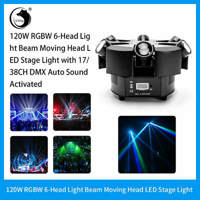 120W LED RGBW 6 Beam Stage Light DMX Bar DJ Disco Party Wedding Effect Light