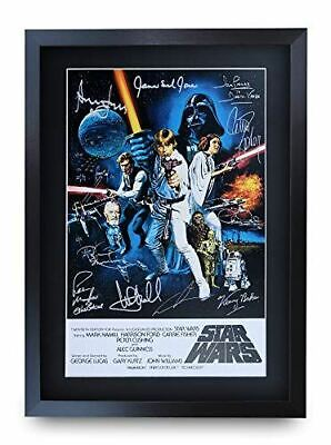 FREE Shipping Star Wars 1977 Original Cast Signed Reprint YXC A1 A2 A3 A4
