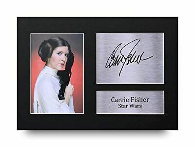 HWC Trading Carrie Fisher Gift Signed A4 Printed Autograph Star Wars Gifts Print