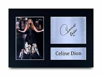HWC Trading Celine Dion Gifts Signed A4 Printed Autograph Gift Music Gift Print