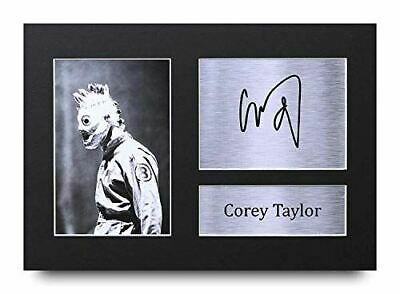 HWC Trading Corey Taylor Gifts Signed A4 Printed Autograph Slipknot Gift Music P