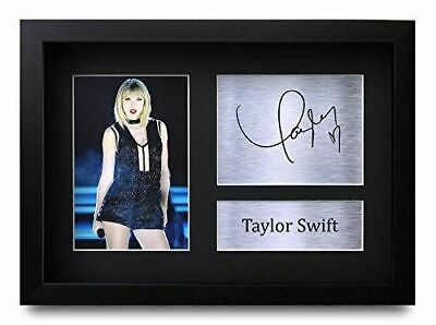 HWC Trading FR Taylor Swift Gifts Signed FRAMED A4 Printed Autograph Music Gift