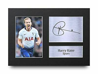 HWC Trading Harry Kane Gift Signed A4 Printed Autograph Tottenham Gifts Hotspur