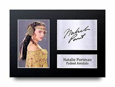 HWC Trading Natalie Portman Gift Signed A4 Printed Autograph Star Wars Gifts Pad