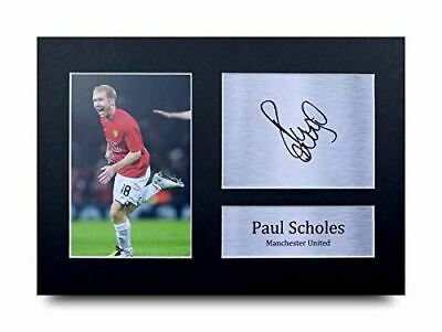 HWC Trading Paul Scholes Gift Signed A4 Printed Autograph Manchester United Gift