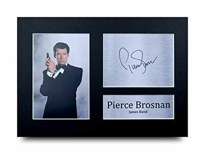 HWC Trading Pierce Brosnan Gift Signed A4 Printed Autograph James Bond Gifts 007