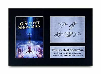 HWC Trading The Greatest Showman Gift Signed A4 Printed Autograph Hugh Jackman Z