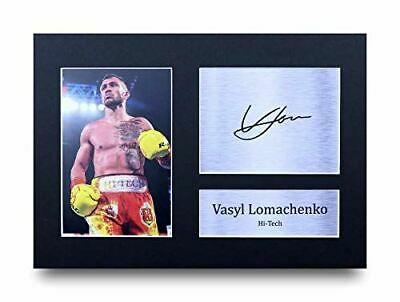 HWC Trading Vasyl Lomachenko Gift Signed A4 Printed Autograph Boxing Gifts Photo