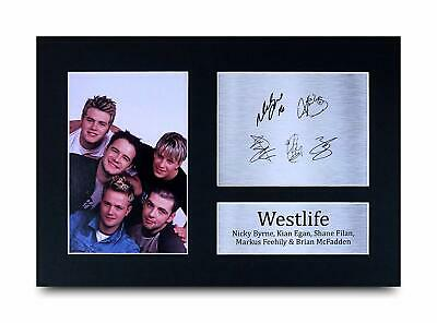 HWC Trading Westlife Signed A4 Printed Autograph Music Gift Print Photo Picture