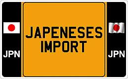 Japanese Import Number Plates  Road Legal 100% Yellow / White  13 X 8