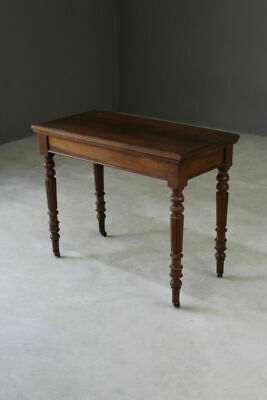 Antique Victorian Mahogany Telescopic Cards Games Console Side Hall Table