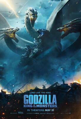 Godzilla : King of the Monsters Movie POSTER 27 x 40 Kyle Chandler, J, USA NEW