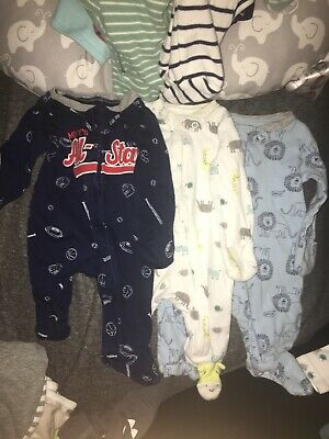 333cc04cf CARTER'S NEWBORN BABY Boy 2Pk Nautical Whale Sleeper Gowns Cotton L ...