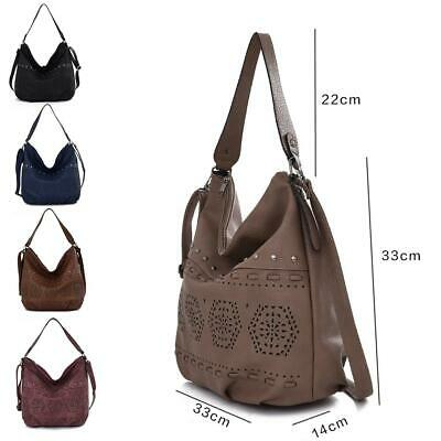 Women's Designer Style PU Leather Tote Shopper Hand Bag