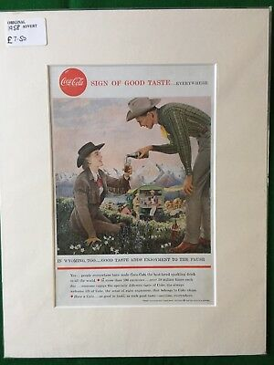 Coca Cola Original Advert 1958 Sign Of Good Taste