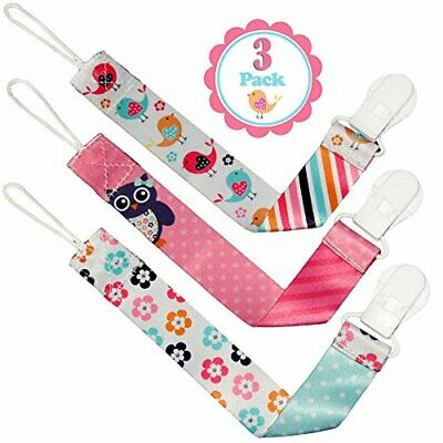 Liname Dummy Clip for Girls - 3 Pack - Premium Quality  Modern 2-Sided Design -