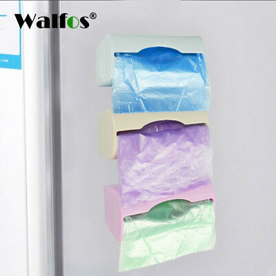 Plastic Wall Mount Container Holder Garbage Dispenser Recycle Bag Storage Box