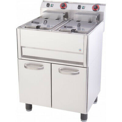 New RM Gastro Commercial Twin Tank Electric Freestanding Fryer