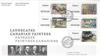 "2016 Landscapes Canadian Painters Kiosk ""P"" stamps OFDC"